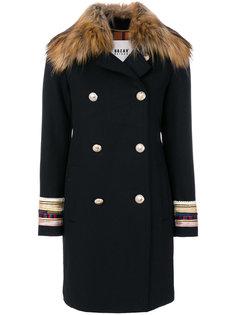 двубортное пальто с вышитыми манжетами  Bazar Deluxe