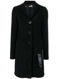 пальто с логотипом  Love Moschino