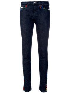джинсы скинни с вышивкой  Love Moschino
