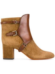 ботинки по щиколотку с пряжками Santoni