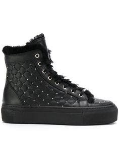 стеганые ботинки на шнуровке Le Silla