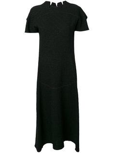 текстурное платье с необработанными краями Maison Margiela