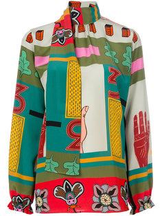 блузка с принтом Counting Three Valentino