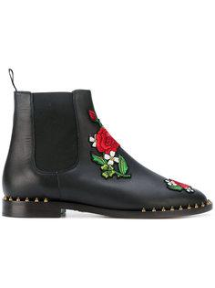 ботинки-челси с розами Charlotte Olympia