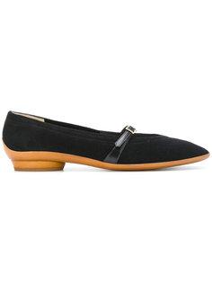 сандалии на низком каблуке с ремешком Salvatore Ferragamo