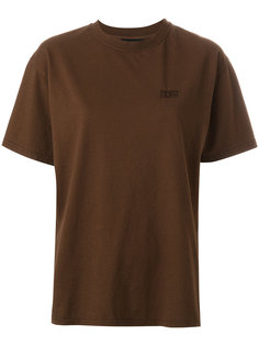 однотонная футболка Dust