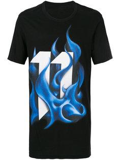 футболка с принтом пламени 11 By Boris Bidjan Saberi