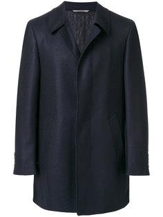 однобортное пальто Canali