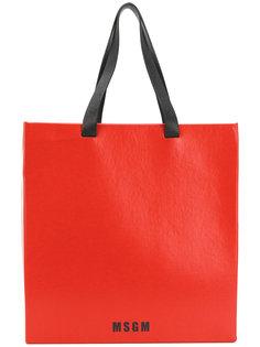 сумка с принтом логотипа MSGM
