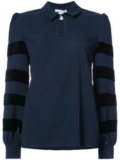 блузка с бархатными полосками Oscar de la Renta