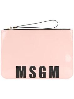 клатч с логотипом MSGM