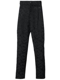 брюки кроя слим Yohji Yamamoto