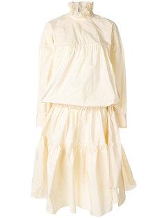 присборенное платье с объемным верхом Kenzo