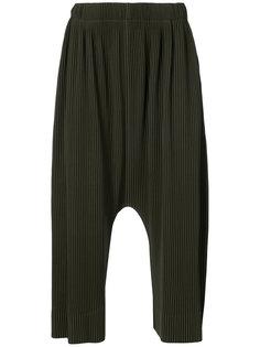 брюки с заниженной проймой Homme Plissé Issey Miyake