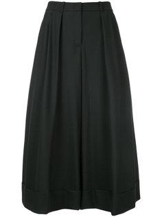 плиссированная юбка миди  Jil Sander Navy