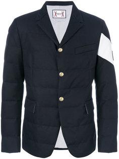 стеганый пиджак с логотипом Moncler Gamme Bleu