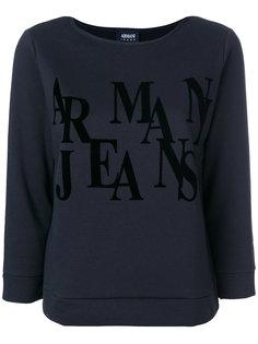 толстовка с рукавами три четверти и логотипом  Armani Jeans