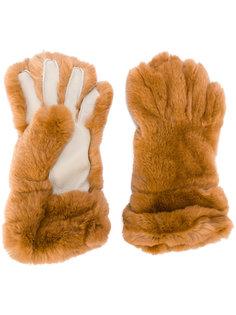 перчатки с меховой отделкой Marni