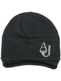 трикотажная шапка с логотипом Armani Jeans