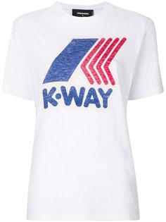 футболка с принтом KWay Dsquared2