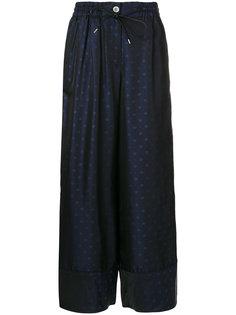 брюки с эластичной талией Sacai