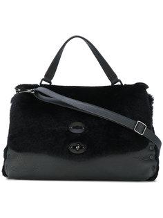 сумка-тоут с двумя застежками Zanellato