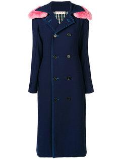 пальто с контрастным капюшоном  Marni