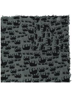 шарф с принтом слонов Hemisphere
