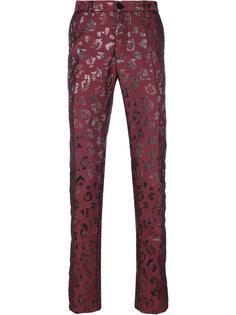 брюки с рисунком с металлическим отблеском Christian Pellizzari