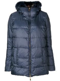 классическая куртка-пуховик с лисьим мехом Blumarine