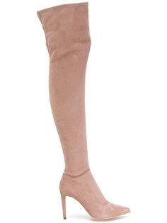 высокие сапоги с заостренным носком Sergio Rossi