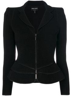 приталенная куртка на молнии Giorgio Armani