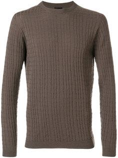 текстурный вязаный свитер Giorgio Armani
