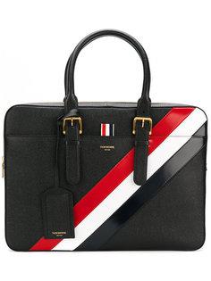 портфель с контрастной полоской Thom Browne