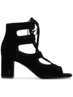 босоножки на шнуровке LouLou 70 Saint Laurent