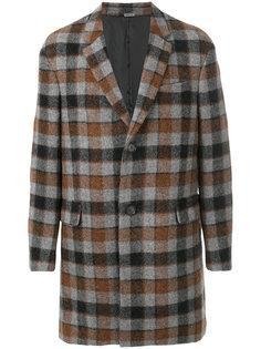 клетчатое пальто Lanvin