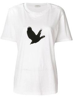 футболка с птицей Saint Laurent