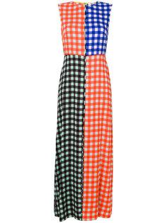 платье в клетку колор блок  Dvf Diane Von Furstenberg