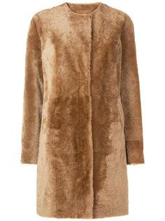 фактурное однобортное пальто  Drome