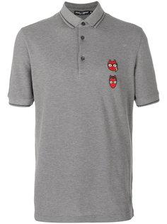 рубашка-поло с заплатками в виде дизайнеров-чертов Dolce & Gabbana