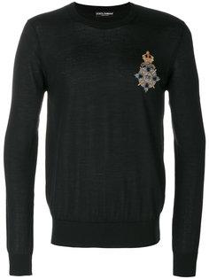 джемпер с заплаткой с гербом Dolce & Gabbana