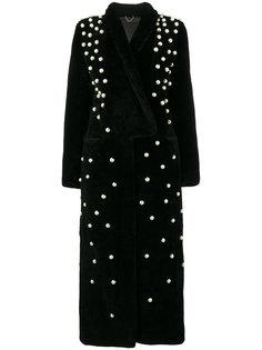 пальто с отделкой жемчугом  Navro