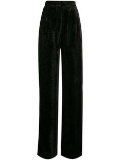 бархатные широкие брюки с блестками  Navro