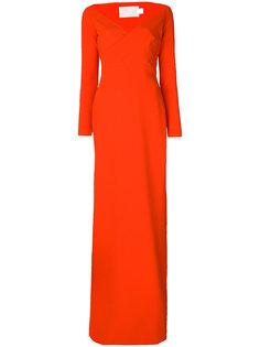 платье с широким V-образным вырезом Victorie Solace London