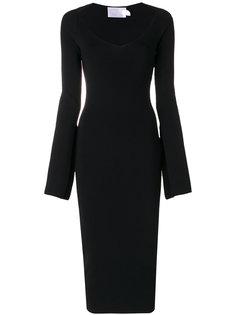 платье в рубчик с V-образным вырезом  Solace London