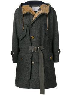 пальто с поясом Sacai