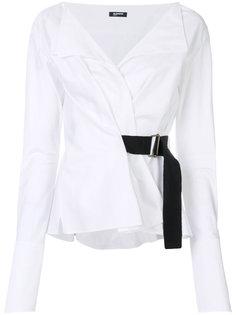 блузка с поясом  Jil Sander Navy