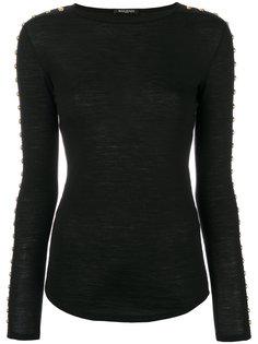 свитер с заклепками  Balmain