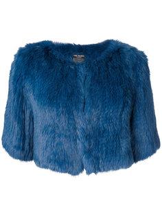 укороченная куртка с короткими рукавами  Yves Salomon