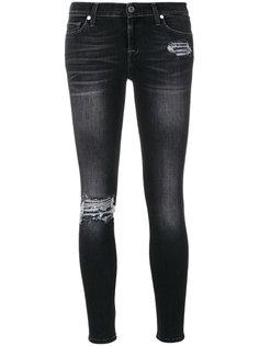 джинсы скинни с деталями с пайетками 7 For All Mankind